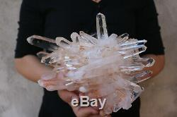 2940g Natural Beautiful Clear Quartz Crystal Cluster Tibetan Specimen