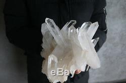 2950g Natural Beautiful Clear Quartz Crystal Cluster Tibetan Specimen