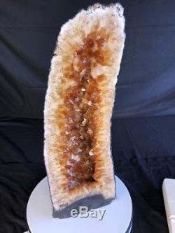 29Qual AAA CITRINE Geode Quartz Crystal Cluster Cathedral Specimen Brazil