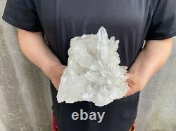 3.2LBS Clear Quartz Cluster Natural Crystal Mineral Specimen Healing TQS31