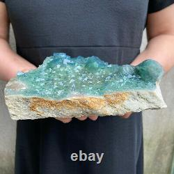 3.2LBS Natural Fluorite Cubes Quartz Crystal Cluster Mineral Specimen Healing B2