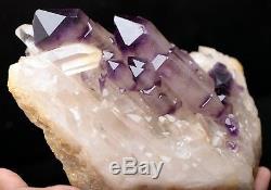3.42lb NATURAL skeletal purple AMETHYST quartz Crystal Cluster Specimen