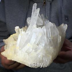 3.5lb Large Natural Clear White Quartz Crystal Cluster Rough Healing Specimen