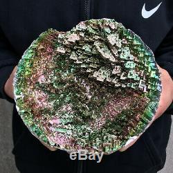 3.7LB Large Natural Rainbow Titanium Cluster Mineral Specimen Crystal Healing