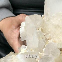 3.85LB Large Natural White Quartz Crystal Cluster Rough Specimen Healing Stone