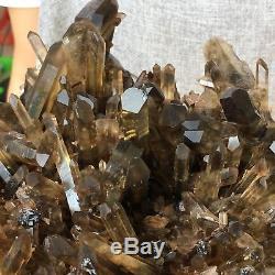 3.96LB Natural smokey citrine quartz cluster crystal wand point healing PX4309
