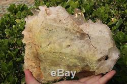 3060g NATURAL Tibetan CLEAR QUARTZ CRYSTAL CLUSTER point mineral Specimen