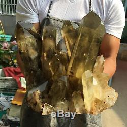 31.32LB Natural citrine cluster Mineral specimen quartz crystal healing TT254-1