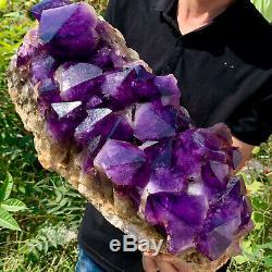 31.3LB Natural Amethyst geode quartz cluster crystal specimen Healing