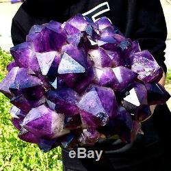 31.5LB Natural Amethyst geode quartz cluster crystal specimen Healing