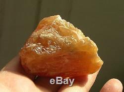 312g Excellent Orange Scheelite Crystal Clusters with Quartz