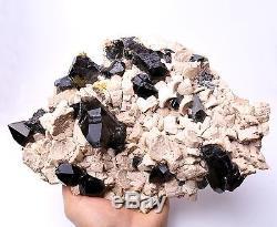 3145g Natural Rare Beautiful Black QUARTZ Crystal Cluster Mineral Specimen