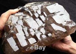 33.06lb Rare NATURAL Smoky Elestial skeletal QUARTZ Crystal Cluster Specimen
