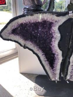 33 by 43 Amethyst Geode Quartz Crystal Cluster Cathedral Specimen Brazil