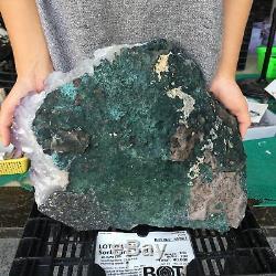 33LB Natural Amethyst Quartz Cluster Mineral Crystal Specimen Healing ZX4434
