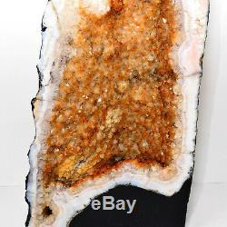 35.1lb 26.1 Cathedral Citrine Geode Cluster Crystal Mineral Gemstone Brazil