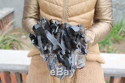 3580g Natural Beautiful Black Quartz Crystal Cluster Tibetan Specimen #02