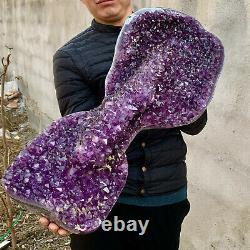 36.91LB Natural Amethyst geode quartz cluster crystal specimen Healing