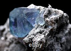 362g Green Blue FLUORITE Quartz Crystal Cluster Mineral Specimen