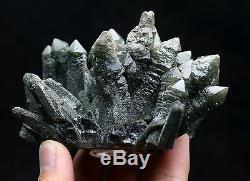 364g New Find NATURAL skeletal Elestial Green QUARTZ Crystal Cluster Specimen