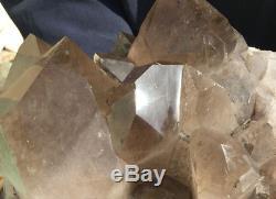 37.02lb Large natural smoky Rutile crystal quartz cluster point specimen reiki h