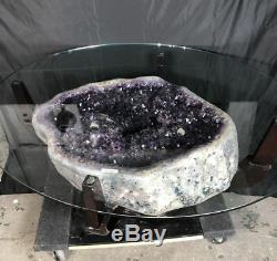 37 Amethyst Table Cathedral Geode Crystal Quartz Natural Cluster Specimen Br