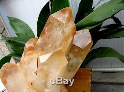 37lb HUGE NATURAL Clear Quartz Crystal cluster Points Specimens