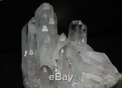 3867g Clear Natural White QUARTZ Crystal Cluster Mica Quartz Point specimen
