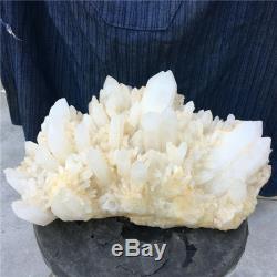 39.49LB Natural clear quartz cluster mineral crystal specimen healing