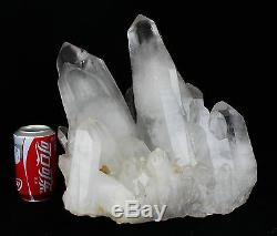 39.6lb AAA+++ Clear Natural White QUARTZ Crystal Cluster Specimen