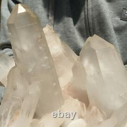 3930g Large Natural Clear White Quartz Crystal Cluster Rough Specimen Healing