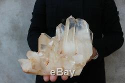 3960g Natural Beautiful Clear Quartz Crystal Cluster Tibetan Specimen B691