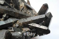 3980g AAA+++ Rare Beautiful Black QUARTZ Crystal Cluster Tibetan Specimen
