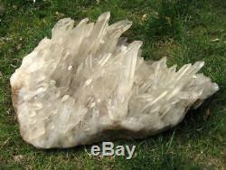 39LB Huge Rock Quartz Crystal Cluster Specimen-BZ157