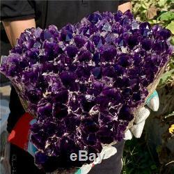 39LB Natural Amethyst geode quartz cluster crystal specimen energy Healing