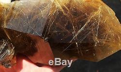 4.07lb New Find NATURAL Clear Golden RUTILATED QUARTZ Crystal Cluster Specimen