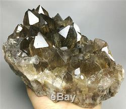 4.0LB NATURAL Clear Golden RUTILATED QUARTZ Crystal Cluster POINT Specimen