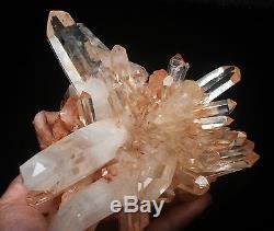 4.36lb AAA+++ Clear Natural Pink QUARTZ Crystal Cluster Mineral Specimen