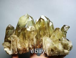 4.37lb Natural Clear Smoky Citrine Quartz Crystal Cluster Point Healing Mineral