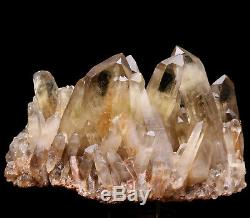 4.38lb Natural Clear Smoky Citrine Quartz Point Crystal Cluster Healing Mineral