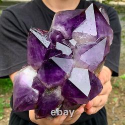 4.3LB Natural Amethyst geode quartz cluster crystal specimen Healing