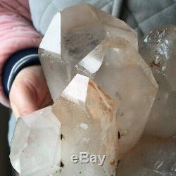 4.3lb Large Natural Clear White Quartz Crystal Cluster Rough Healing Specimen