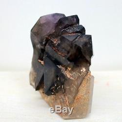 4.47 Rare Shape Elestial Smoky Amethyst Crystal Cluster Skeletal Quartz, Ame28