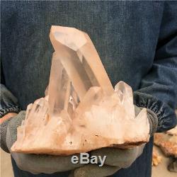 4.84LB Natural CLEAR Quartz Cluster Mineral Crystal Specimen Healing BB1495-YH
