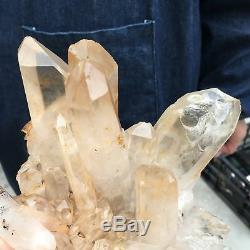 4.88LB Natural Clear quartz cluster Mineral crystal specimen healing FTD207-FA