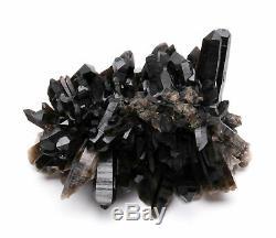 4.95lb Natural Clear Black Quartz Point Crystal Cluster Healing Mineral Specimen