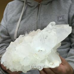 4020g Large Natural Clear White Quartz Candle Crystal Cluster Healing Specimen