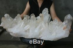 40800g(89.8lb) Natural Beautiful Clear Quartz Crystal Cluster Tibetan Specimen
