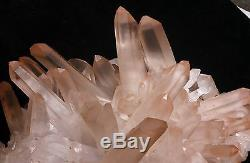 41.36lb Rare NATURAL Pink Quartz Crystal Cluster original Specimen