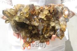 4150g Natural Beautiful Citrine Smoke Quartz Crystal Cluster Tibetan Specimen